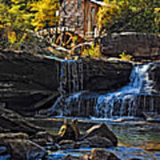 Grist Mill In Babcock State Park West Virginia Art Print