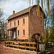 Grist Mill In Deep River County Park Art Print by Paul Velgos