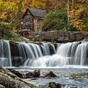 Grist Mill With Vibrant Fall Colors Art Print