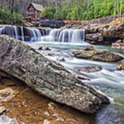 Gristmill At The Creek Art Print
