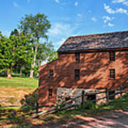 Gristmill At The Farmstead Art Print