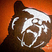Grizzly Bear Graffiti Art Print by Edward Fielding