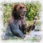 Grizzly Bear Photo Art 01 Art Print