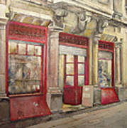 Grocery Store In Old Town Art Print
