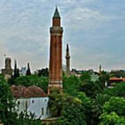 Grooved Minaret Fromthirteenth Century In Antalya-turkey Art Print