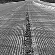 Grooved Road Art Print