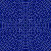 Mandala Blue Marvel Art Print
