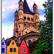 Gross St. Martin In Cologne Germany Art Print