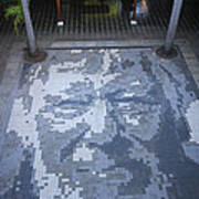ground mosaic in the cultural center of Granada Nicaragua Art Print