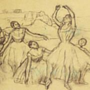 Group Of Dancers Art Print