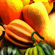 Group Of Gourds Art Print