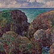 Group Of Rocks At Port Goulphar Art Print