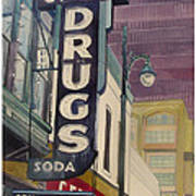 Grove Drug  Art Print