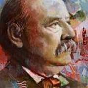 Grover Cleveland Art Print by Corporate Art Task Force