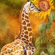 Growing Tall - Giraffe Art Print