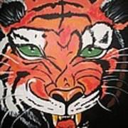 Growling Tiger Art Print