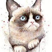 Grumpy Cat Watercolor Art Print