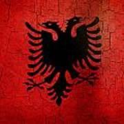 Grunge Albania Flag Art Print