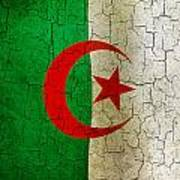 Grunge Algeria Flag Art Print