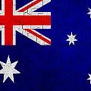 Grunge Australia Flag Art Print