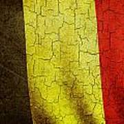 Grunge Belgium Flag Art Print