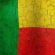 Grunge Benin Flag Art Print