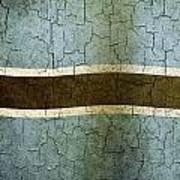 Grunge Botswana Flag Art Print