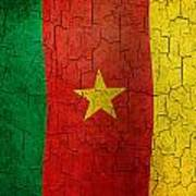 Grunge Cameroon Flag Art Print