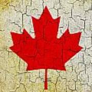 Grunge Canada Flag Art Print