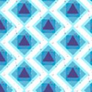 Grunge Colorful Abstract Geometric Art Print