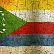 Grunge Comoros Flag Art Print