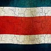 Grunge Costa Rica Flag Art Print