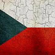 Grunge Czech Republic Flag Art Print