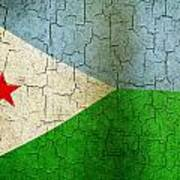 Grunge Djibouti Flag Art Print