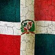 Grunge Dominican Republic Flag Art Print