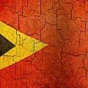 Grunge East Timor Flag Art Print