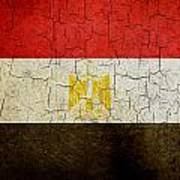 Grunge Egypt Flag Art Print