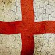 Grunge England Flag Art Print