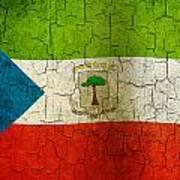 Grunge Equatorial Guinea Flag Art Print