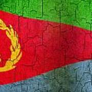 Grunge Eritrea Flag Art Print