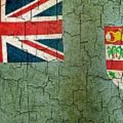 Grunge Fiji Flag Art Print