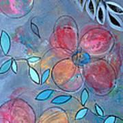 Grunge Floral II Art Print