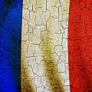 Grunge France Flag Art Print