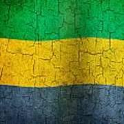 Grunge Gabon Flag Art Print