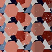 Grunge Geometric Background. Vector Art Print