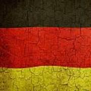 Grunge German Flag Art Print