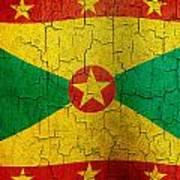 Grunge Grenada Flag Art Print