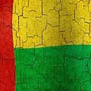 Grunge Guinea-bissau Flag Art Print