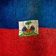 Grunge Haiti Flag  Art Print