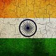 Grunge India Flag Art Print